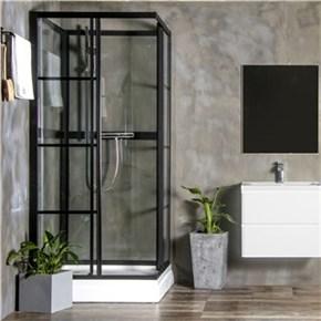 Dusjkabinett Bathlife Betrakta 90x90 Rett R/W Klarglass
