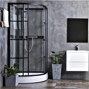 Dusjkabinett Bathlife Betrakta 90x90 Rund C/W Klarglass