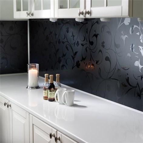 Kitchen Board Fibo 0901 K00 P1 Black Flower - Kjøkkenplater ...